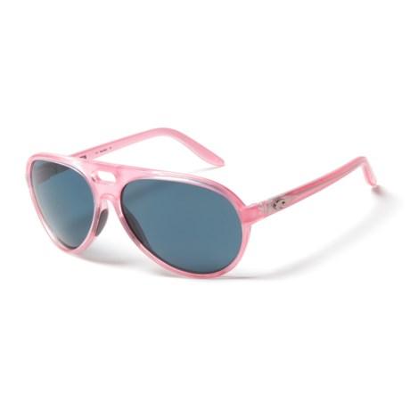 Costa Grand Catalina Sunglasses - Polarized 580P Lenses (For Women) in Coral Gray
