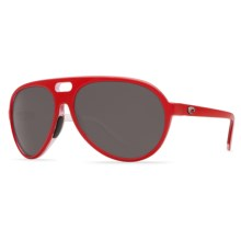 Costa Grand Catalina Sunglasses - Polarized 580P Lenses in Red/White/Grey 580P - Closeouts