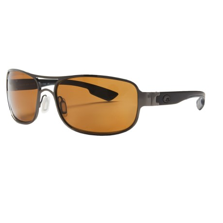 Costa Grand Isle Sunglasses - Polarized, 580P Lenses in Gunmetal/Amber 580P
