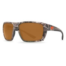 Costa Hamlin Camouflage Sunglasses - Polarized 580P Lenses in Realtree Xtra Camo/Amber - Closeouts