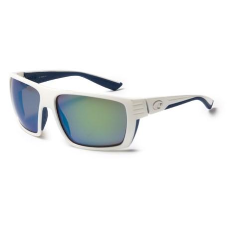 Costa Hamlin Sunglasses - Polarized 400G Glass Mirror Lenses in White/Green Mirror