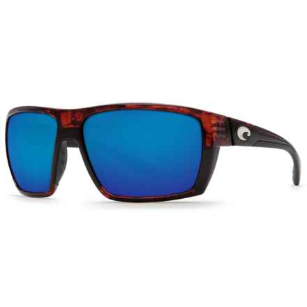 Costa Hamlin Sunglasses - Polarized 580P Mirror Lenses (For Men) in Tortoise/Blue