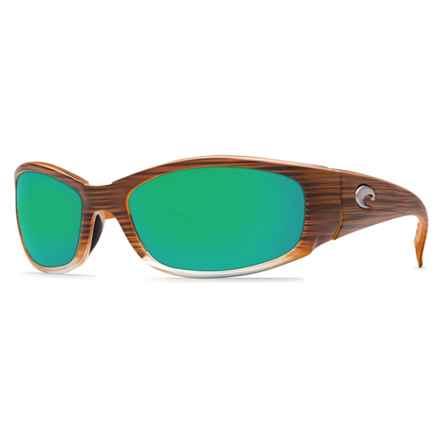 Costa Hammerhead Sunglasses - Polarized 400G Glass Lenses in Wood Fade/Blue Mirror - Closeouts