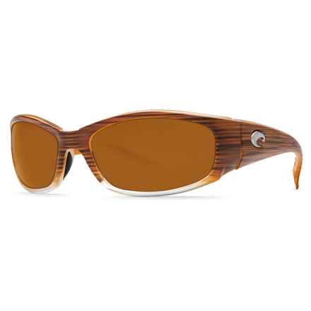 Costa Hammerhead Sunglasses - Polarized, 580P Lenses in Wood Fade/Amber - Closeouts