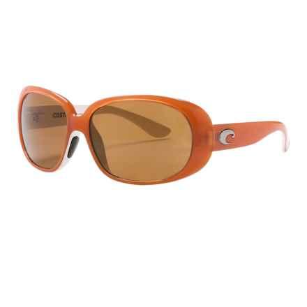 Costa Hammock Sunglasses - Polarized 580P Lenses (For Women) in Salmon White/Amber 580P - Closeouts