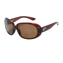 Costa Hammock Sunglasses - Polarized 580P Lenses (For Women) in Tortoise/Amber - Closeouts