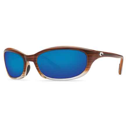 Costa Harpoon Sunglasses - Polarized 400G Glass Lenses in Wood Fade/Blue Mirror - Closeouts