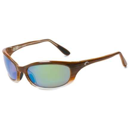 Costa Harpoon Sunglasses - Polarized 400G Glass Lenses in Wood Fade/Green Mirror - Closeouts