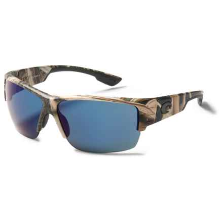 Costa Hatch Camo Sunglasses - Polarized 580P Mirror Lenses in Mossy Oak Shadow Grass Blades/Blue Mirror - Closeouts