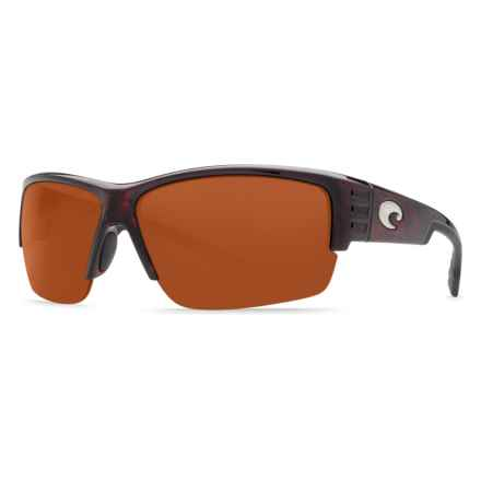 Costa Hatch Sunglasses - Polarized 580P Lenses in Tortoise Copper - Closeouts