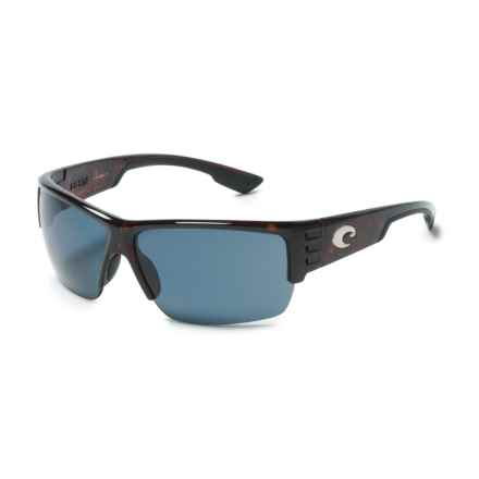 Costa Hatch Sunglasses - Polarized 580P Lenses in Tortoise/Gray - Closeouts