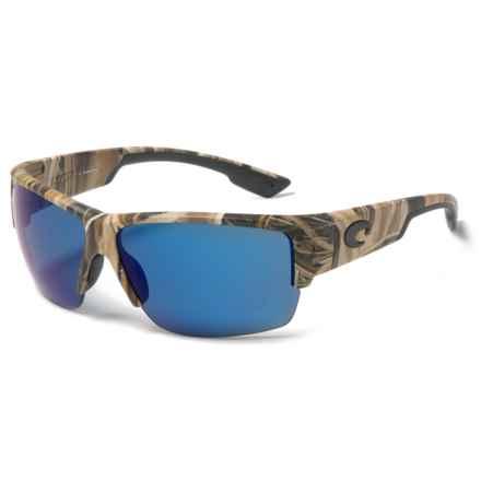 Costa Hatch Sunglasses - Polarized 580P Mirror Lenses in Mossy Oak/Blue Mirror - Closeouts