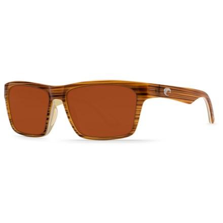 217bc47d5cd Costa Hinano Sunglasses - Polarized 580P Mirror Lenses in Driftwood  White Khaki Copper