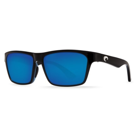 5aa5ea2dbe Costa Hinano Sunglasses - Polarized 580P Mirror Lenses in Shiny Black Blue