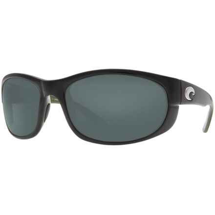 Costa Howler Sunglasses - Polarized, 580P Mirrored Lenses in Black Green/Grey 580P - Closeouts