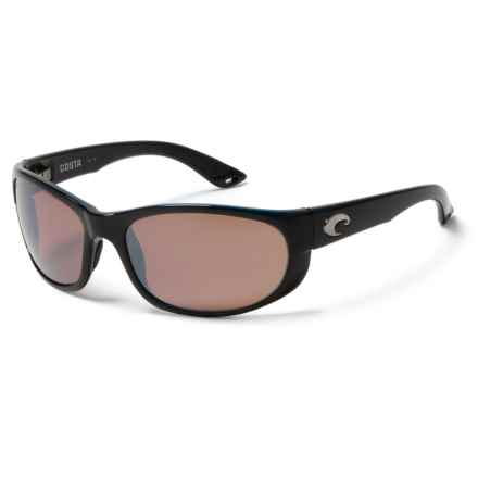 Costa Howler Sunglasses - Polarized, 580P Mirrored Lenses in Black/Silver Mirror - Closeouts