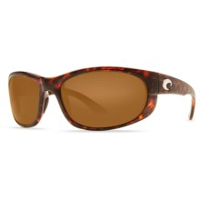 Costa Howler Sunglasses - Polarized, 580P Mirrored Lenses in Tortoise/Amber - Closeouts