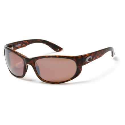 Costa Howler Sunglasses - Polarized, 580P Mirrored Lenses in Tortoise/Silver Mirror - Closeouts