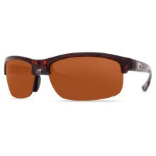 Costa Indio Sunglasses - Polarized 580P Lenses in Tortoise/Copper - Closeouts