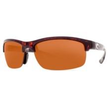 Costa Indio Sunglasses - Polarized, Mirrored 580P Lenses in Tortoise/Copper 580P - Closeouts