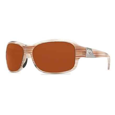 Costa Inlet Sunglasses - Polarized 580G Glass Lenses (For Women) in Morena/Copper - Closeouts
