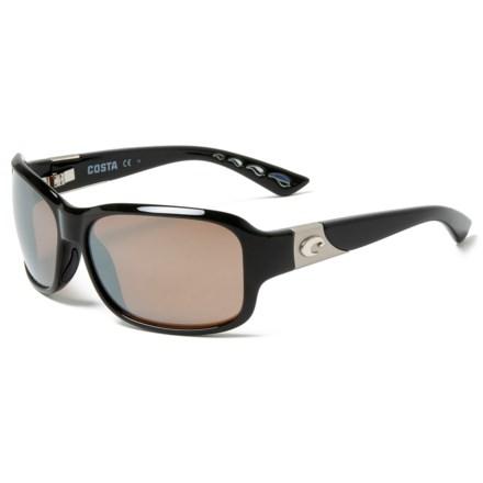 3159326617604 Costa Inlet Sunglasses - Polarized 580G Mirror Lenses (For Women) in  Black Silver