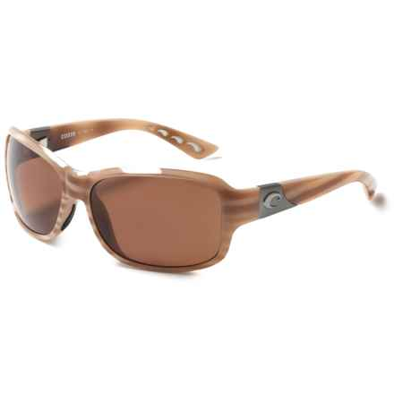 Costa Inlet Sunglasses - Polarized 580P Lenses (For Women) in Morena/Copper - Closeouts