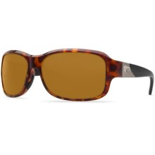 Costa Inlet Sunglasses - Polarized 580P Lenses (For Women) in Retro Tortoise Black Temples/Amber - Closeouts