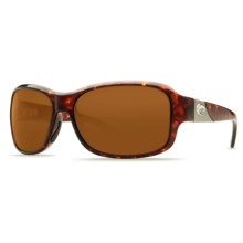 Costa Inlet Sunglasses - Polarized 580P Lenses (For Women) in Tortoise/Amber - Closeouts