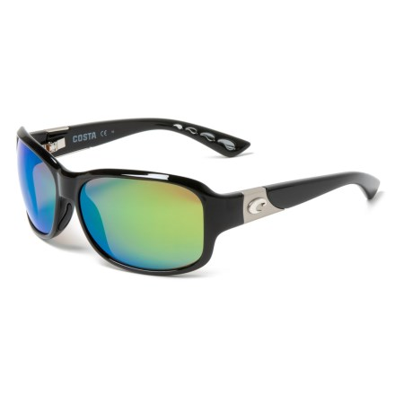 c3261ed7a7 Costa Inlet Sunglasses - Polarized 580P Mirror Lenses (For Women) in  Black Green