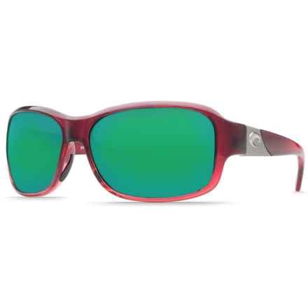35efe654256f Costa Inlet Sunglasses - Polarized 580P Mirror Lenses (For Women) in  Pomegranate Fade