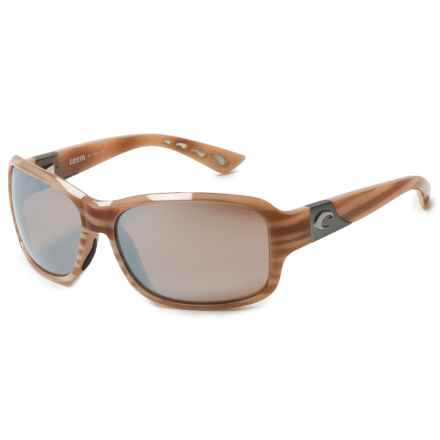 Costa Inlet Sunglasses - Polarized, Mirrored 580G Glass Lenses (For Women) in Morena Silver Mirror - Overstock