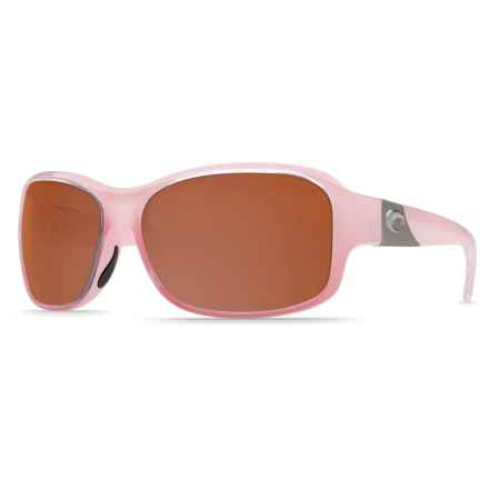 Costa Inlet Sunglasses - Polarized, Mirrored 580P Lenses (For Women) in Coral/Silver Mirror - Closeouts
