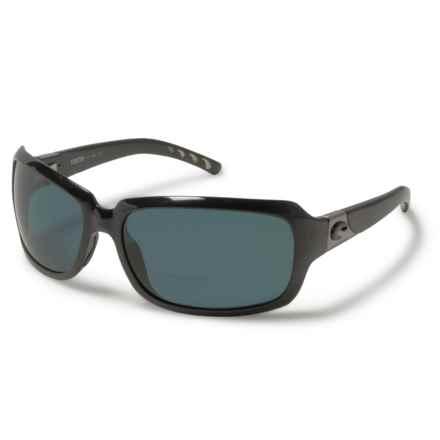 Costa Isabela Reading Glasses - Polarized C-Mates 580P Mirror Lenses (For Women) in Shiny Black/Gray - Overstock