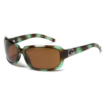 Costa Isabela Sunglasses - Polarized 580P Lenses (For Women) in Shiny Seagrass/Amber - Closeouts