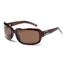 Costa Isabela Sunglasses  - Polarized 580P Lenses in Tortoise/Amber - Closeouts