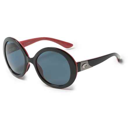 Costa Isla Sunglasses - Polarized 580P Lenses (For Women) in Black Coral/Gray - Overstock