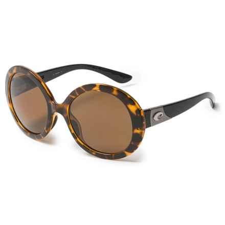 Costa Isla Sunglasses - Polarized 580P Lenses (For Women) in Retro Tortoise/Black Temple/Amber - Overstock