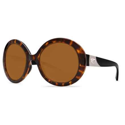 Costa Isla Sunglasses - Polarized 580P Lenses (For Women) in Retro Tortoise/Black Temples/Amber 580P - Closeouts