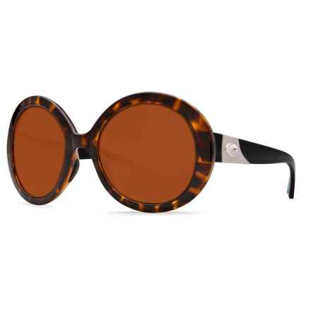Costa Isla Sunglasses - Polarized 580P Lenses (For Women) in Retro Tortoise/Black Temples/Copper 580P - Closeouts