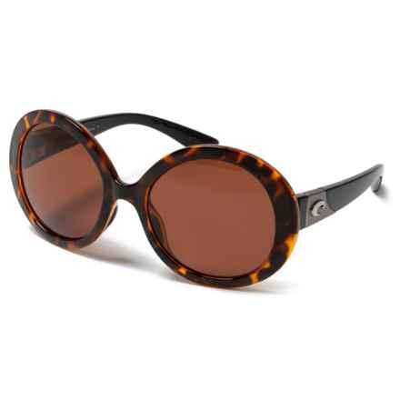 Costa Isla Sunglasses - Polarized 580P Lenses (For Women) in Retro Tortoise Black Temples/Copper - Closeouts