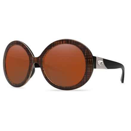 Costa Isla Sunglasses - Polarized 580P Lenses (For Women) in Scotch Black Black Temples/Copper - Closeouts