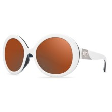 Costa Isla Sunglasses - Polarized 580P Lenses (For Women) in White Topaz/Copper - Closeouts