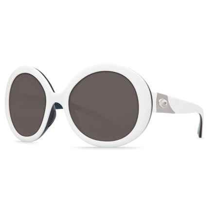 Costa Isla Sunglasses - Polarized 580P Lenses (For Women) in White/Topaz/Grey 580P - Closeouts