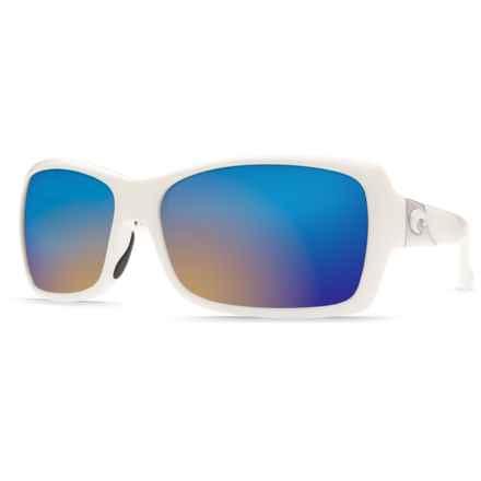 Costa Islamorada Sunglasses - Polarized 400G Glass Mirror Lenses (For Women) in White/Blue Mirror - Closeouts