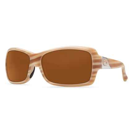 Costa Islamorada Sunglasses - Polarized 580P Lenses (For Women) in Morena/Amber - Closeouts