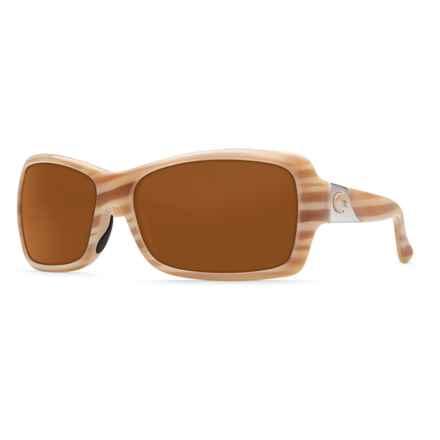 Costa Islamorada Sunglasses - Polarized 580P Lenses (For Women) in Morena/Amber - Closeouts