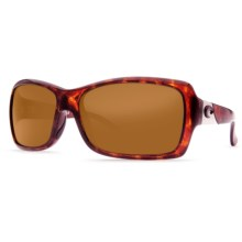 Costa Islamorada Sunglasses - Polarized 580P Lenses (For Women) in Tortoise/Amber - Closeouts