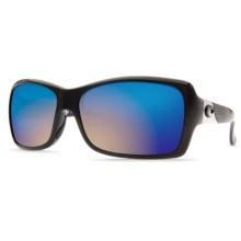 Costa Islamorada Sunglasses - Polarized Mirrored 400G Lenses (For Women) in Black/Blue Mirror - Closeouts