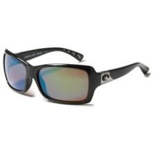 Costa Islamorada Sunglasses - Polarized, Mirrored 580G Lenses (For Women) in Black/Green Mirror - Closeouts